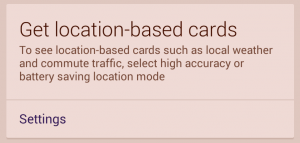 location based cards